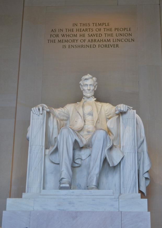 Lincoln Memorial, Mr Lincoln himself, Washington D. C., Resedagbok, USA, Livsaptit