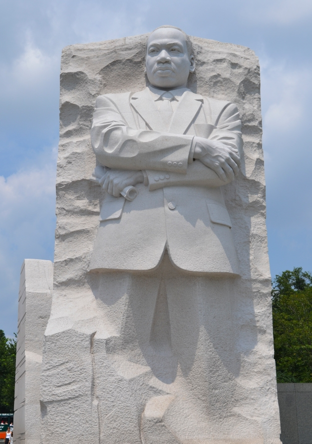 Martin Luther King Jr. Memorial, Washington D. C., sommaren 2015, Resedagbok, USA, Livsaptit