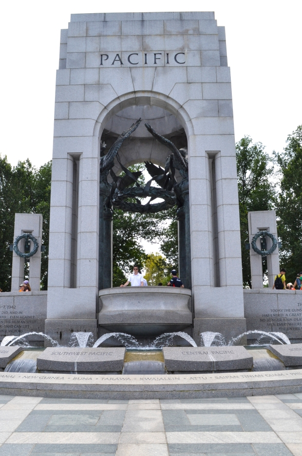 National World War II Memorial från Pacific-sidan , Washington D.C., USA 2015, Resedagbok, Livsaptit