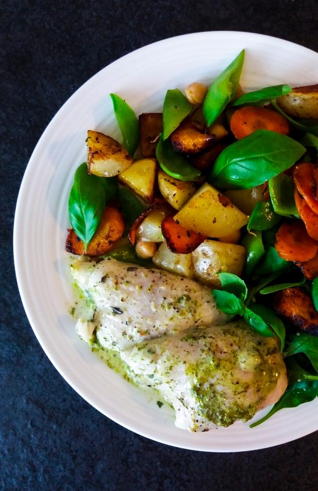 Rödspättarullader med citronbasilikafyllning och varm potatissallad, Recept, Livsaptit
